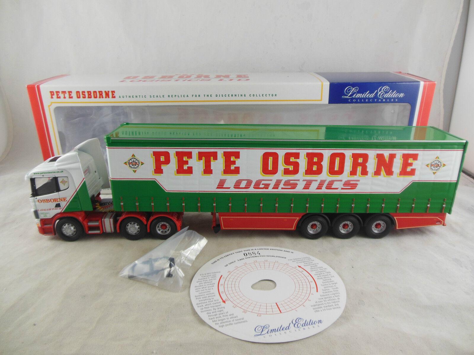 CORGI CC12207 SCANIA CURTAINSIDE Pete Osborne logistica Ltd