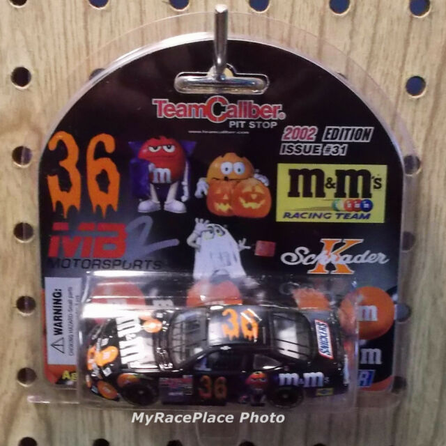 #36 M&M Ken Schrader NASCAR 1/64 Diecast Car _ 2002 HALLOWEEN M&M's RACING TEAM
