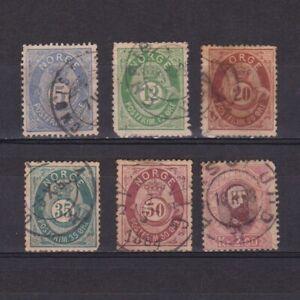 NORWAY-1877-Sc-24-34-CV-125-part-set-Used