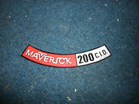 1971 Ford Maverick 200 6 Cylinder Air Cleaner Top Lid Decal Sticker