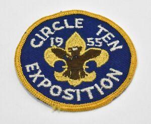 Circle-Ten-Council-Exposition-Patch-1955-Texas-2-3-4-034-BSA-Boy-Scouts-of-America