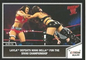 #6 Layla Nikki Bella 2013 Topps  Best of WWE Wrestling Sammelkarte