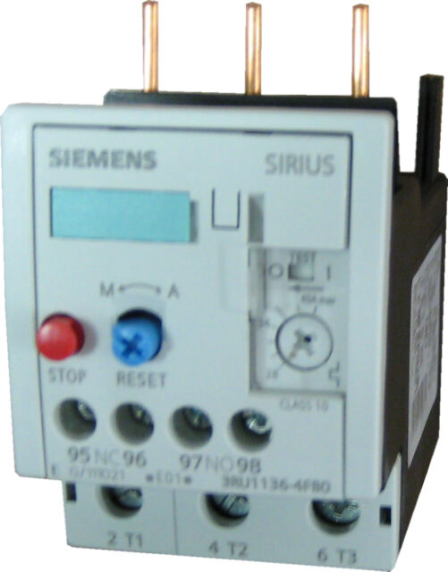 Size S0 Siemens 3RU11 26-4DB0 Thermal Overload Relay 20-25A Setting Range For Mounting Onto Contactor