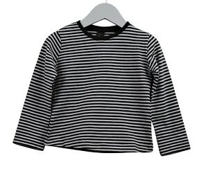 bc06f140 Girls Ex Zara Long Sleeve T-Shirt Top Grey & White Stripes Age 2 to ...