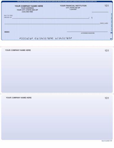 Printed Computer Checks Comparable With QuickBooks w CUSTOM Logo 250