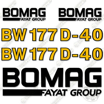 Bomag BW 120 SL Tandem Vibratory Roller Decal Kit