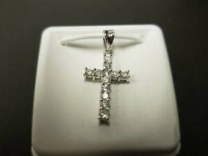 14k-White-Gold-0-50ct-Diamond-Cross