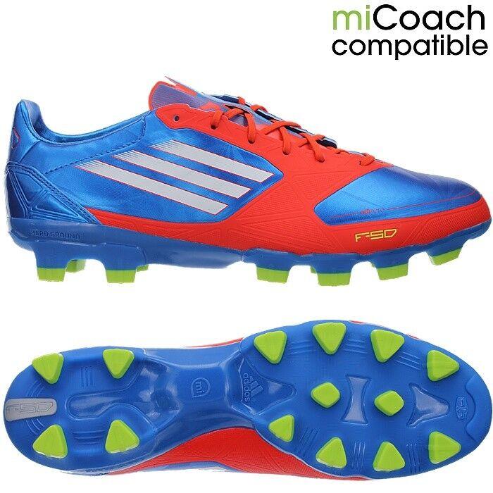 Adidas F50 ADIZERO TRX TRX TRX HG Fußballschuhe Nocken schwarz Orange blau Leder NEU 5581ca