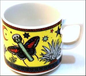 PAPILLON-gelb-BOPLA-Porzellan-Espressotasse-0-09l-stapelbar-Motiv-Schmetterling