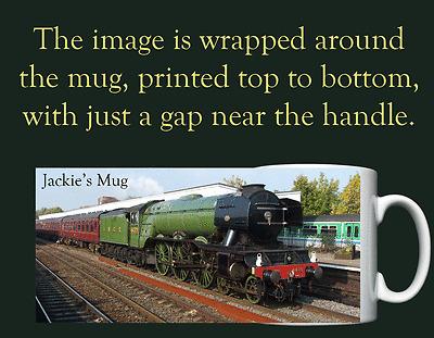 Personalised Mug Flying Scotsman Steam Train Dad Grandad Fathers Day Gift FST01