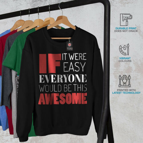 Jumper Awesome Casual This Pullover Mens Wellcoda Black Sweatshirt Funny wHx41UwqO
