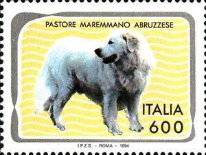 # ITALIA ITALY - 1994 - Pastore Maremmano Sheep dog Cani Chiens Dogs - Stamp MNH - Italia - # ITALIA ITALY - 1994 - Pastore Maremmano Sheep dog Cani Chiens Dogs - Stamp MNH - Italia