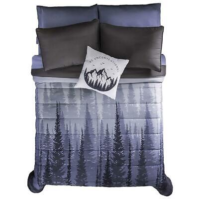 Durango Brown with Beige Horse Print Reversible Comforter Set by Vianney