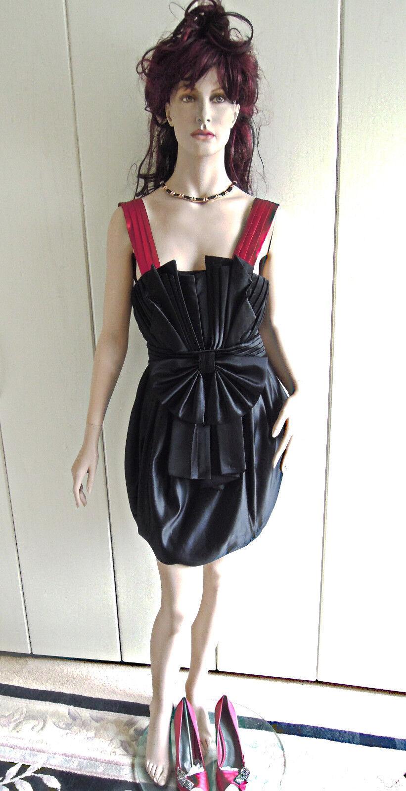 Abendkleid Rarität Gr. 34 ein Traum in black red sexy Glamour Kleid limitiert