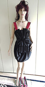 Abendkleid-Raritaet-Gr-34-ein-Traum-in-schwarz-rot-sexy-Glamour-Kleid-limitiert