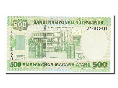 Rwanda 2004 Unc #154878 Km #30a Aa4990438 Providing Amenities For The People; Making Life Easier For The Population 65-70 500 Francs 2004-07-01