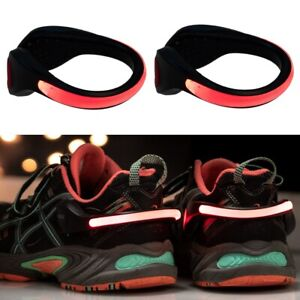 2pk-LED-Ankle-Clip-Safety-Light-Reflective-Running-Cycling-Walking-Strap-Band