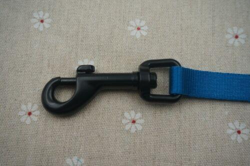 """5-1//2/"""" Heavy Duty Pivotant Clips Snap Hook Laisse pour chien-Noir 12.5 mm"""