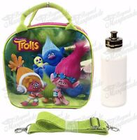 Dreamworks Trolls Lunch Bag Plus Water Bottle With Adjustable Strap Insulated