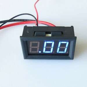 10A-Mini-Digital-Blue-LED-DC-4-5-30V-Ammeter-Panel-Meter-Current-Amp-Meter