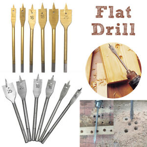 HIGH-QUANTITY-FLAT-WOOD-DRILL-BIT-SET-HEX-SHANK-HOLE-CUTTER-MAKER-BORER-6mm-55mm