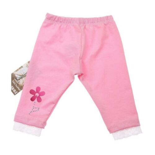 Girls Cotton Summer Leggings Flower age 1 years up to 4 years