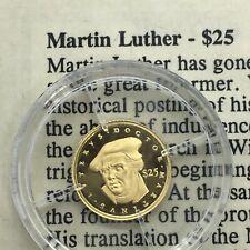 Liberia MiniGold24K Pure Gold Coins .73 Gram /& COA. Worlds Smallest Gold Coin