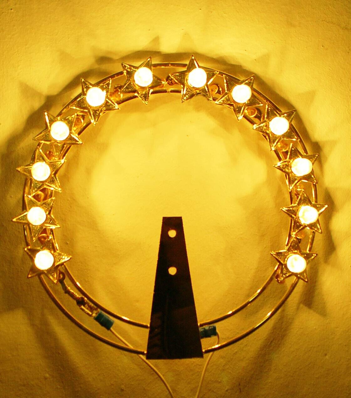 Luminous Votive coronet In Brass With Strass Stellario Aureole Several Measures