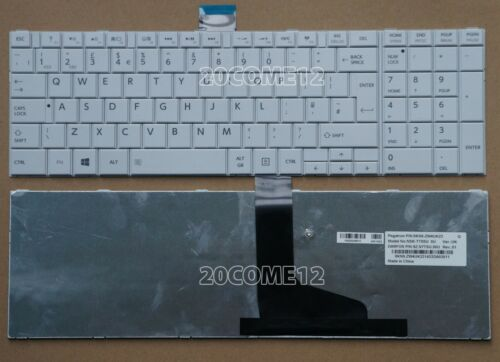 NEW for Toshiba Satellite C850 C850D C855 C855D Keyboard UK White