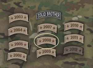 OIF OEF WAR on TERROR VET TROPHY burdock ONE-TAB: Theater Stationed Year 2008