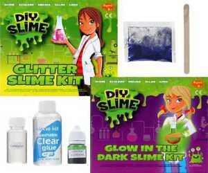 Make-Your-Own-Slime-DIY-Kit-Set-Glitter-amp-Glow-In-The-Dark-Effect-Safe-Kids-3084