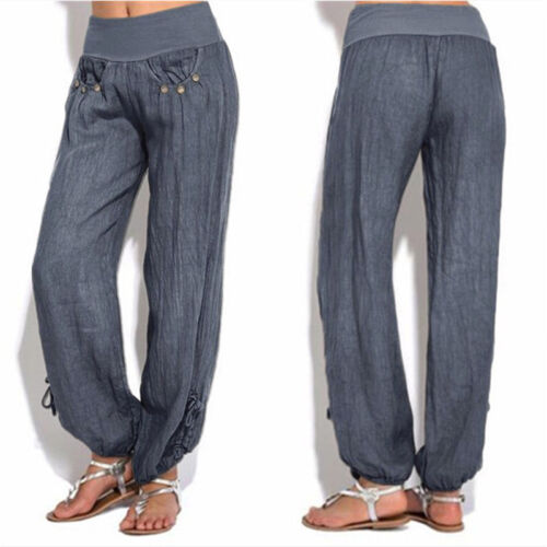 US Women Casual Loose Sweatpant Sports Harem Trousers Yoga Jogger Pant Plus Size