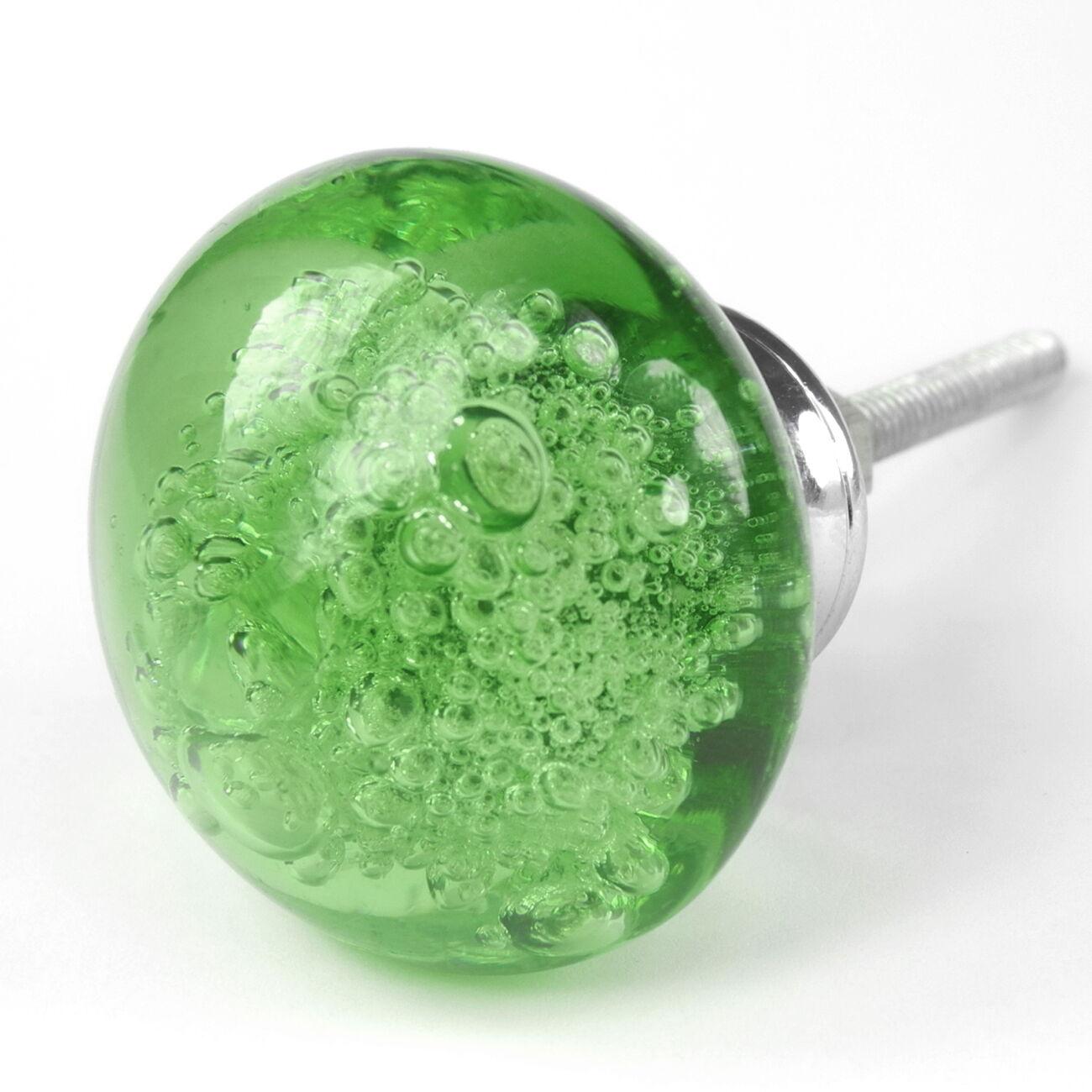 Victorian Vanity Cabinet Glass Handles Dresser Pulls Drawer Knobs Grün   K134