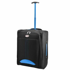 Cabin Travel Bag Wheeled Lightweight Suitcase Hand Luggage Trolley Holdall F