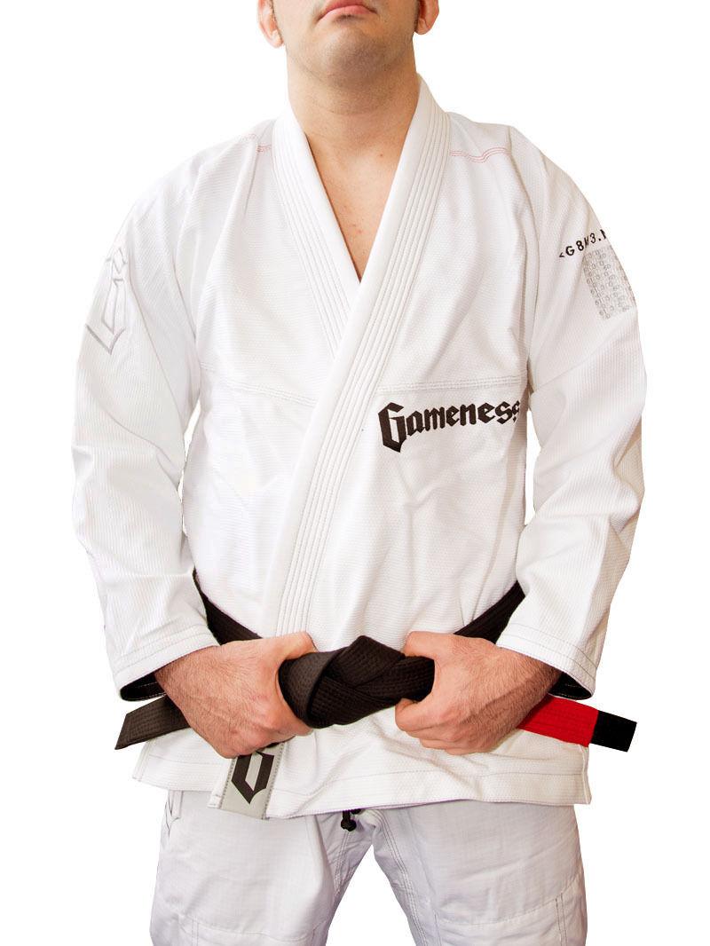 ¡Nuevo  Gameness Pelaje Bjj Gi Jiu Jitsu Gi Kimono Uniforme blancoooo
