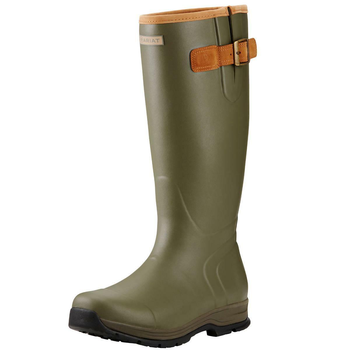 New Ariat Burford Wellies Mens - Olive Green