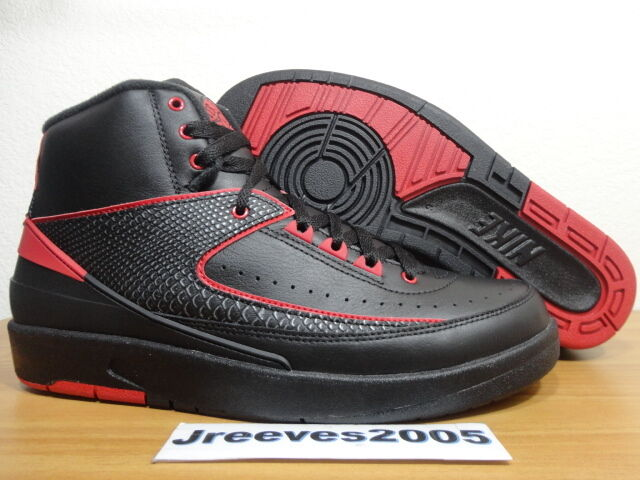 huge selection of fdab9 5e77a Nike Air Jordan II 2 Retro Alternate 87 Black Red 834274-001 Sz 9