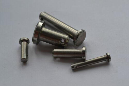 I perni in acciaio inox 3 mm diam VARIE LUNGHEZZE CONFEZIONE DA 2