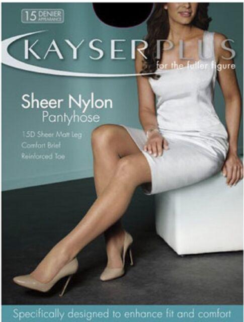 Kayser Plus Sheer Nylon Pantyhose 15 Denier   Fuller Figure Tights Pantyhose