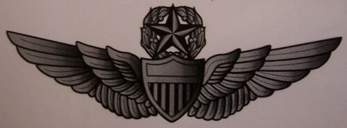 Window Bumper Sticker Military Army Aviation Master Pilot Wings NEW Decal