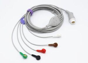 Philips-12-Pin-5-fuehrt-Snap-EKG-EKG-Kabel-Agilent-Heartstart-Patientenmonitor