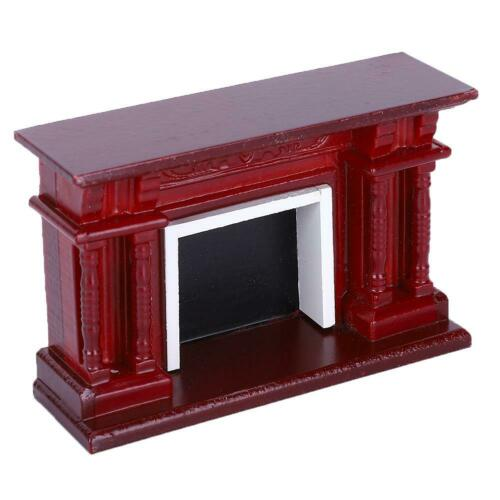 Dolls House Miniature 1:12 Scale Wooden Furniture Fireplace Accessories