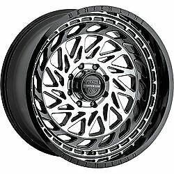 20x12 Centerline 848MB LT8 Gloss Black Machined Wheels 6x135/6x5.5 -44 Set of 4