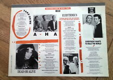 A-HA DEAD OR ALIVE TEARS FOR FEARS lyrics magazine PHOTO/clipping 11x8 inches