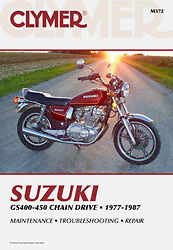 CLYMER 1981-1982 Suzuki GS450T REPAIR MANUAL M372