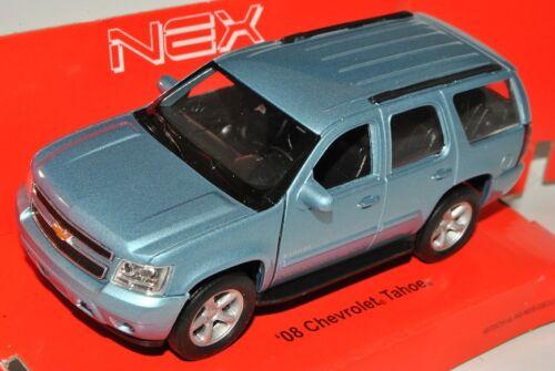 Chevrolet Chevy Tahoe SUV Blau Grau Ab 2006 ca 1//43 1//36-1//46 Welly Modell Aut..
