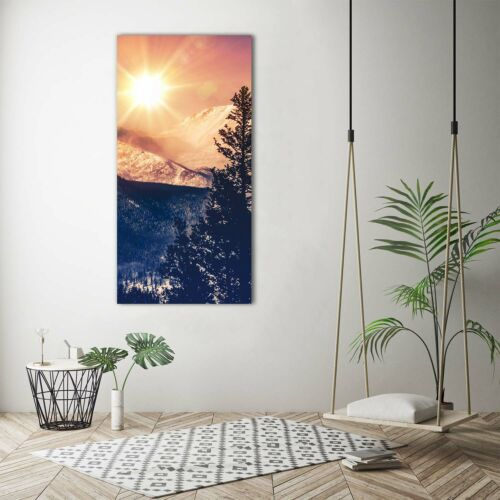 Canvas Picture Art Print Portrait 70x140 images Sun Mountains
