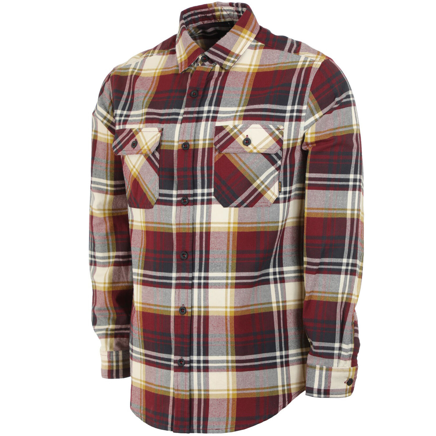BURTON Mens 2019 - Brighton Flannel Shirt - Port Royal Stump Plaid