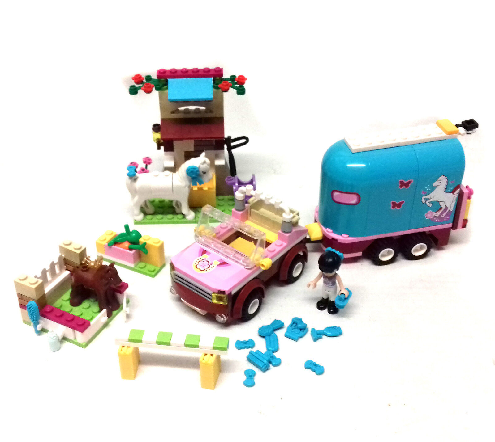 LEGO TOYS 3186 Friends Emma's Horse Trailer set with figures & Extra Fowl set