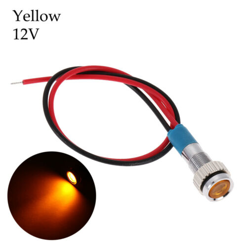 With Wire 6mm 3V 5V 6V 9V 12V 24V 220V Signal Lamp LED Metal Indicator Light